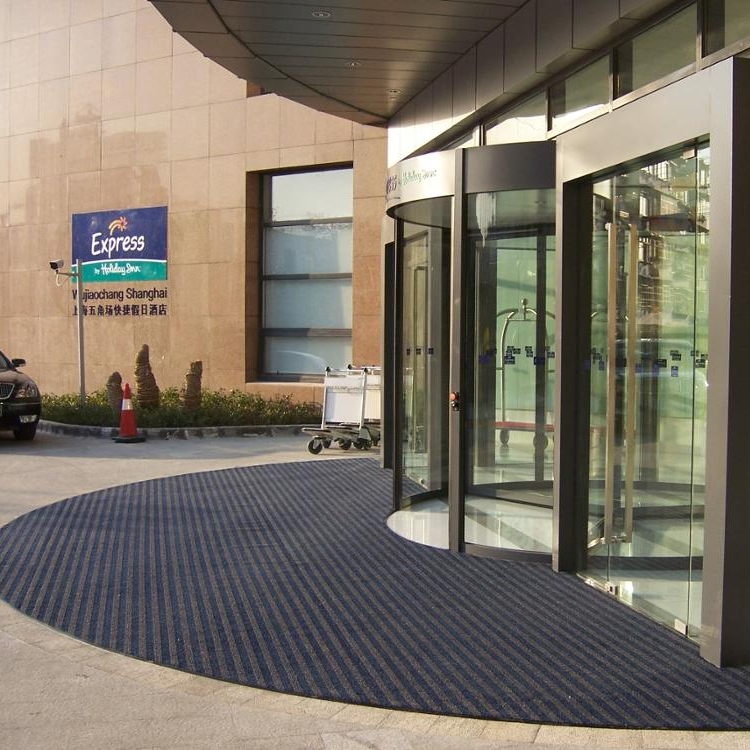Most popular Ribbed entry mat high quality cheap price anti slip welcome floor rugs for entrance us