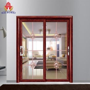 Bomei factory double aluminium tempered glass doors