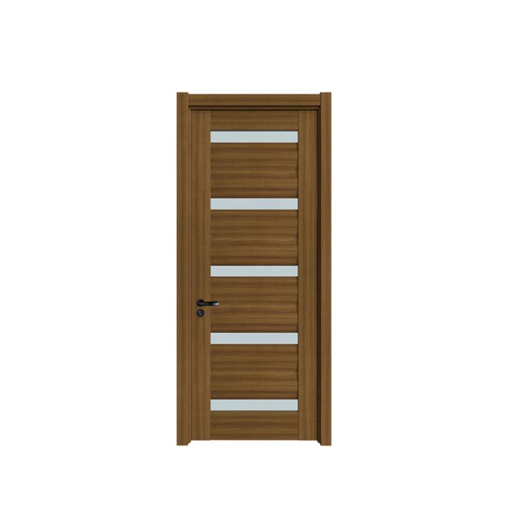 Wholesale indoor wooden related glass latest model entrance kitchen interior room door