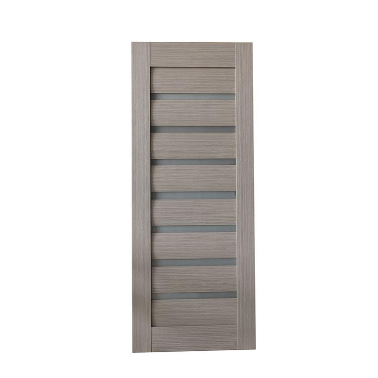 China Custom Design Louver PVC toilet door bathroom door price with frosted glass