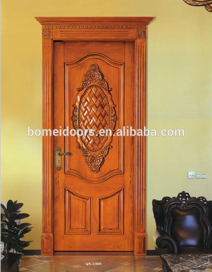 Solid wood best design flower door