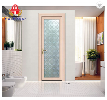 High quality aluminum alloy swing glass doors for interior fancy design aluminum frame glass door