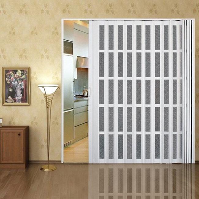 Plexiglass automatic folding door mechanism