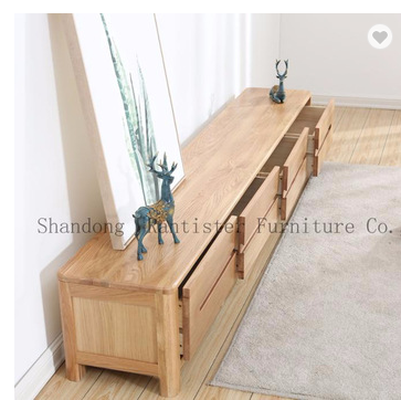 Floating cloud TV stand simple and modern small household solid wood furniture