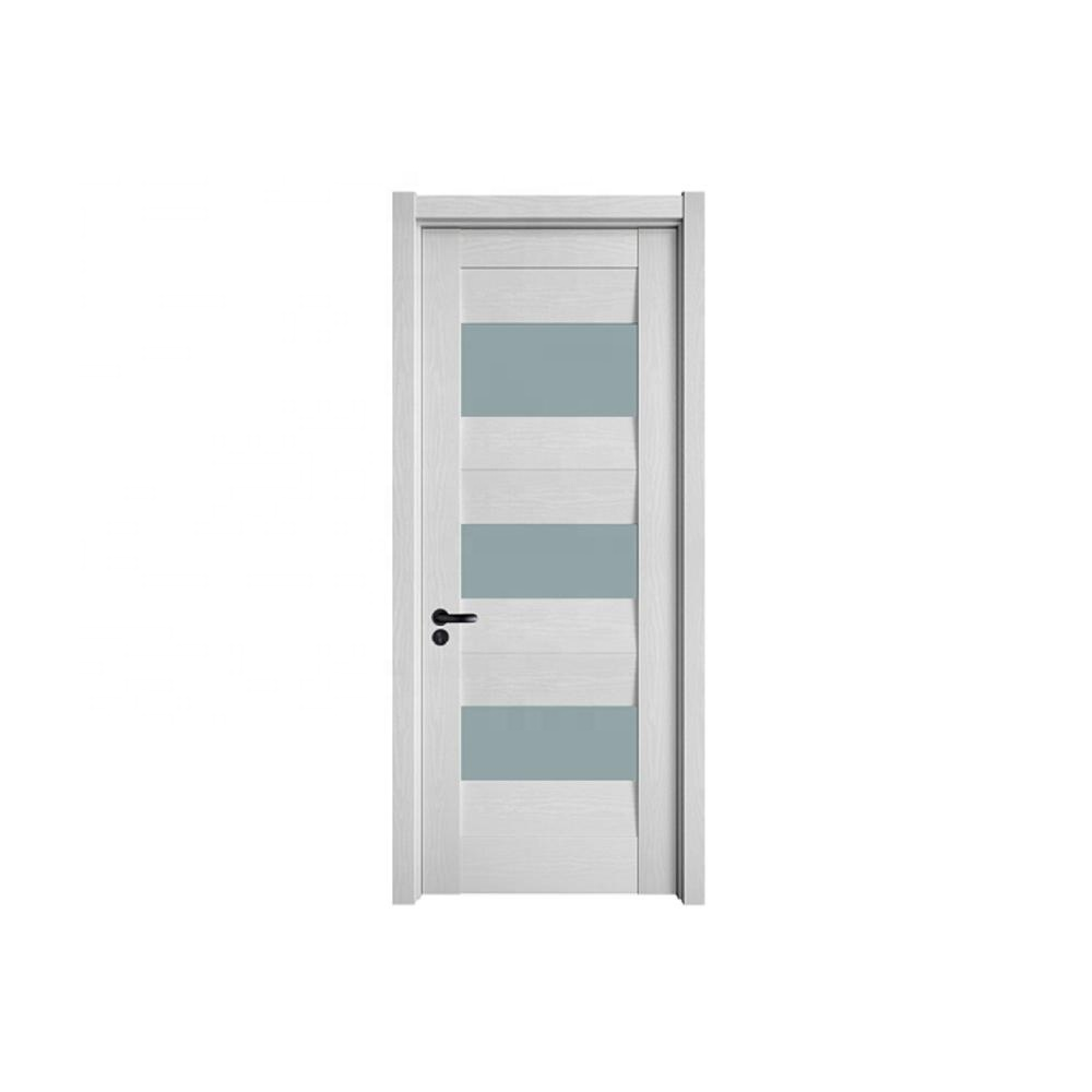 Wholesale hot sale wood related glass cheap interior doors for house