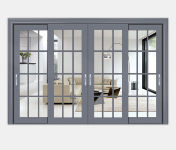 Alibaba New Style Aluminum Sliding Tempered Glass Doors From Guangzhou