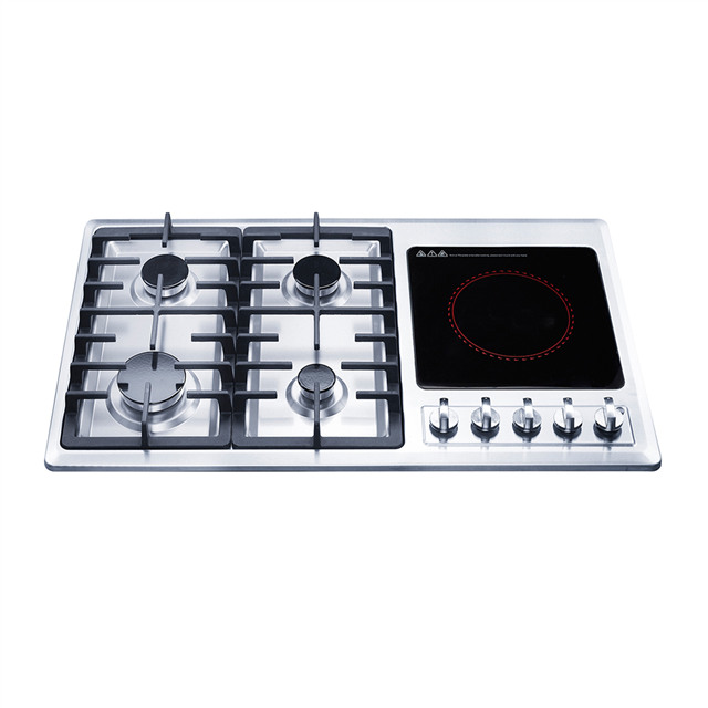 Multi Cooktops Gas & Electric Stove Cooker with Mechanical Switch Control of Electric Hotplate.