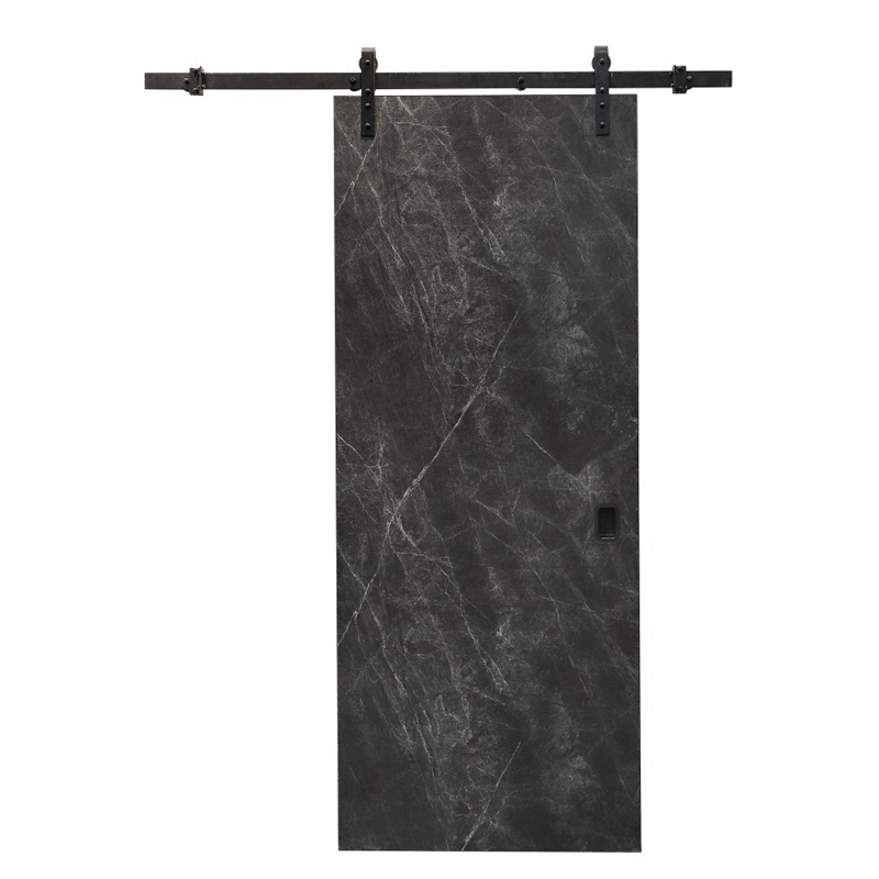 High quality PVC water proof barn door with hardware assembled interior wooden door latest design fo