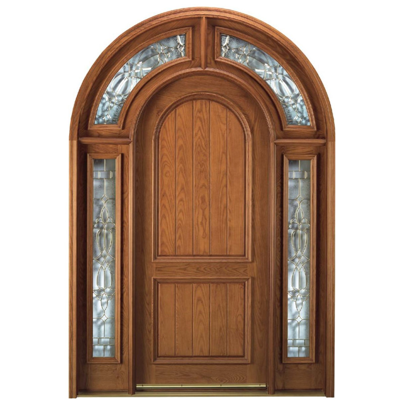 Cheap swing arch solid wood door design made in China