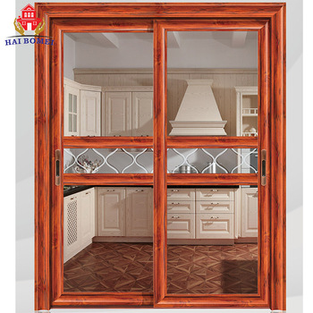 China supplier aluminum glass sliding doors for kitchen