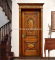 Fashion flower designs wooden single main door for house