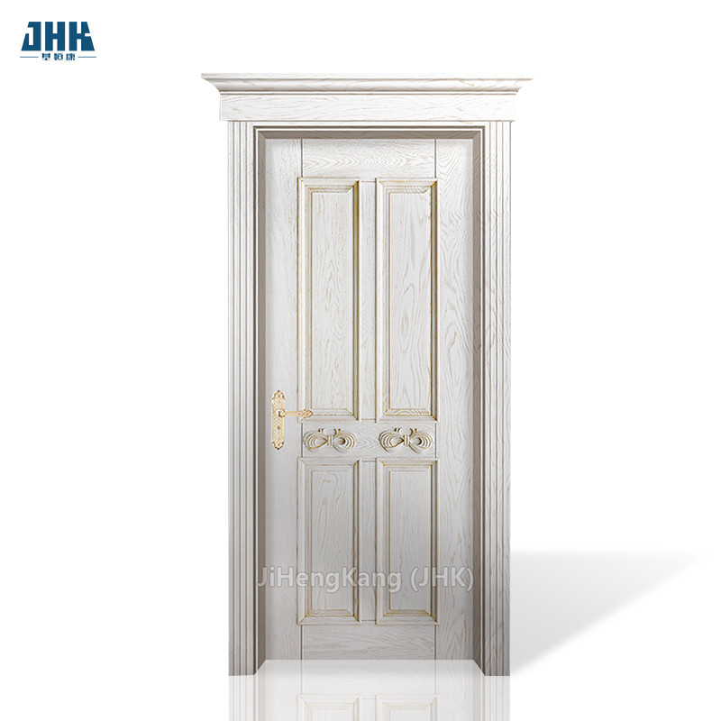 JHK- S04 Prefabricated Hand Carved Rosewood Partition Walls Mahogany Wood Interior Door