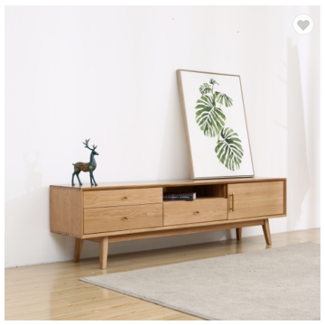 Maddie series solid wood modern TV cabinet small household simple Nordic style small household TV st