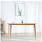 North American oak concise rectangle dining table straight leg solid wood dining table