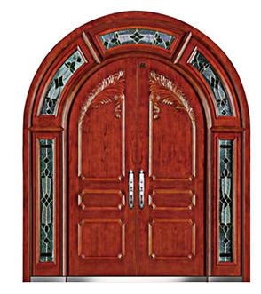 Luxury arch design bullet proof armored security double open main gate door