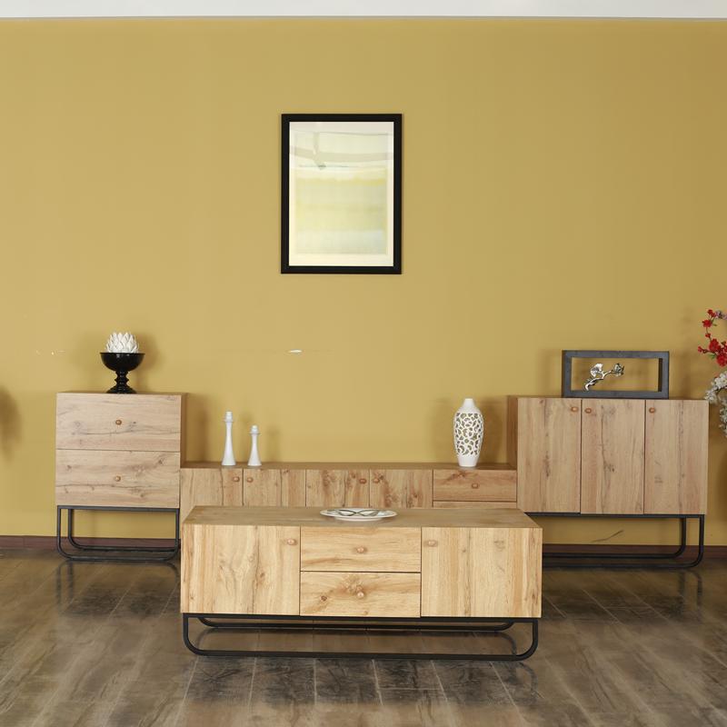 2019 New Design Home Furniture Arc metal Shape frame  Living Room Cabinet Modern Wooden Locker Cabinet