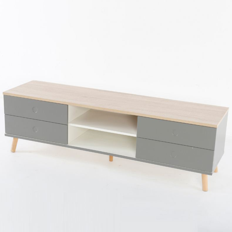 Living room furniture modern simple TV cabinet solid wood TV cabinet made in China
