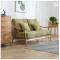 Solid wood modern sofa reception room soft cloth flowing cloud sofa