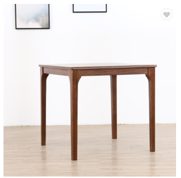 Northern Europe solid wood dining table white oak modern Japanese 80*80 peninsula square table