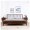 Solid wood bed 1.5M bedroom white oak modern northern Europe Windsor bed