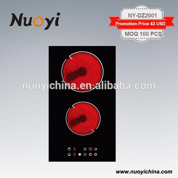 Hot selling Domino Ceramic Hob 2 burner Built in Type