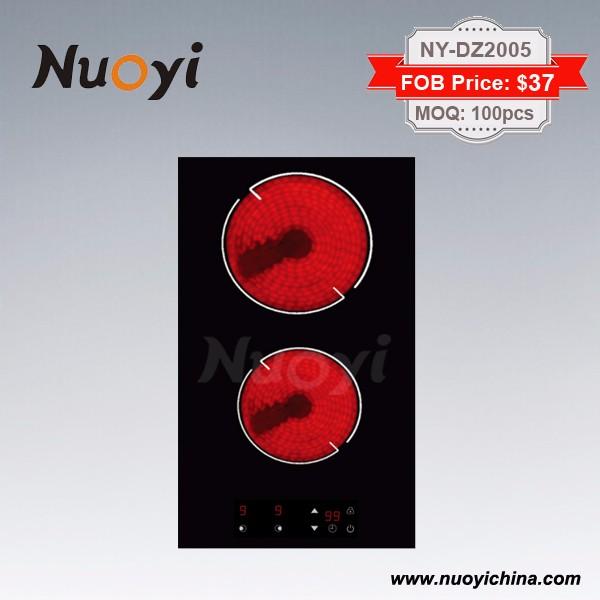 2 Burners built in Ceramic infrared hob/ Vitroceramic cooker