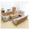 Modern small household solid wood sofa creative fashion living room oak sofa