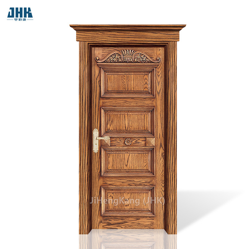 JHK-SK07 Wholesale Knotty Prefinished Interior Carved Wood Pine Shaker Doors