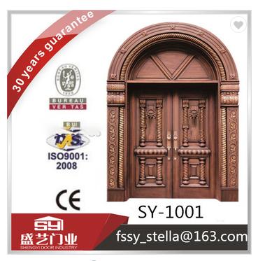 SY-1001Hot sale luxury villa double copper main door make in China