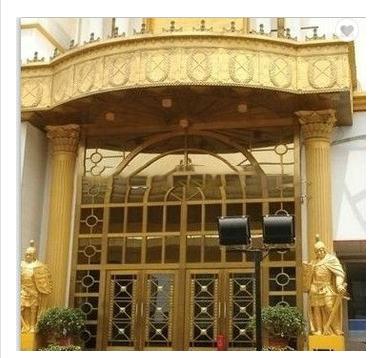 Morden luxury bronze entry security door design