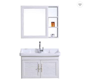 Luxury Hotel Wall Mount Bathroom Cabinet with Drawer, Modern Washbasin Mirror Space Aluminum Bathro