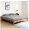 Modern solid wood creative bed white oak bedroom set comfortable Tatami