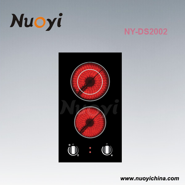 2 Burners built in Ceramic hob with CE Certification Knob Control