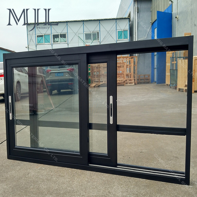Latest designs customized office soundproof sliding glass window with mosquito net