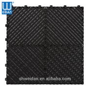 Hot selling interlocking PVC garage floor mat for car wash
