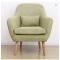 Modern solid wood living room sofa white oak single sofa hotel sofa