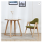 Modern simple solid wood round table white oak tea table hotel household coffee table