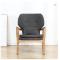 Modern single living room sofa small house hold leisure sofa solid wood Nordic style sofa