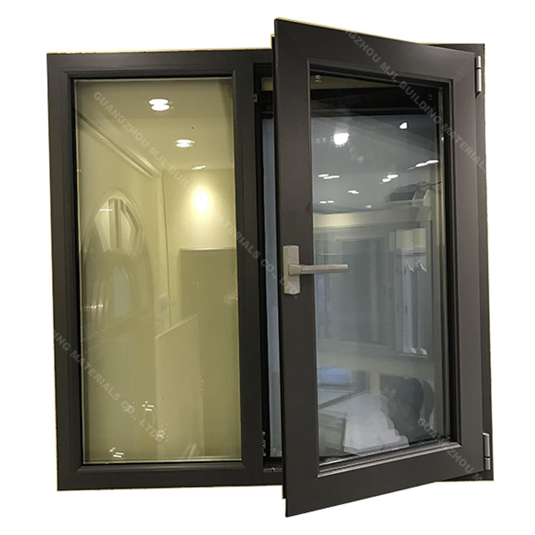 Newest design energy saving aluminum alloy hollow glass casement window for office
