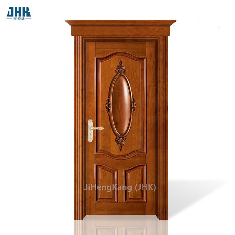 JHK- Lowes Exterior Entrance Door Design Wood Wall Panel Doors