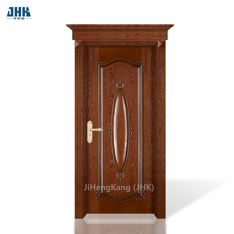 JHK-000-CS China Customize Luxury Carved Solid Wood Panel Doors