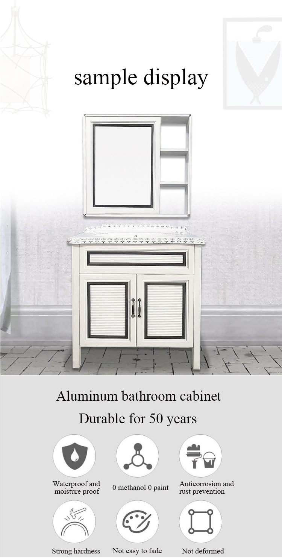 Luxury Hotel Wall Mount Bathroom Cabinet with Drawer, Modern Washbasin Mirror Space Aluminum Bathroom Storage Vanity Cabinet$