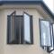 European- style aluminum double glass casement windows