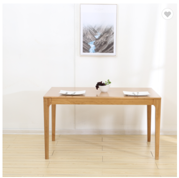 Northern Europe Japanese solid wood dining table white oak modern peninsula dining table