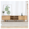 Solid wood modern TV cabinet with drawers minimalism wooden TV cabinet