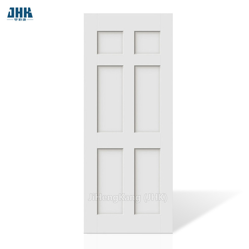 JHK- 006 Antique Chinese Finger Joint Wood Door 6 Panel Interior Doors With Frame