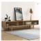 Solid wood living room TV stand modern hotel white oak TV cabinet