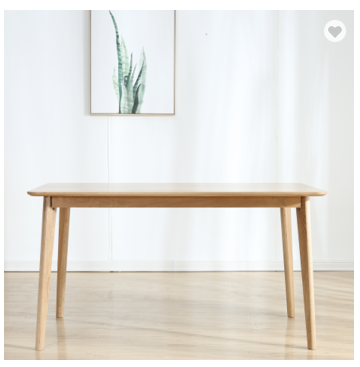 Solid wood dining table white oak simple restaurant table small household table