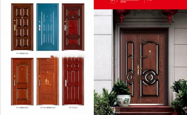 High quality low price bullet proof steel security door