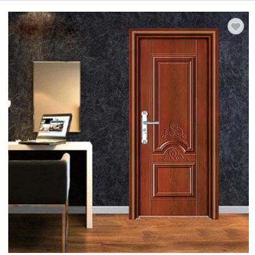China manufacturer steel door low prices steel bedroom interior door